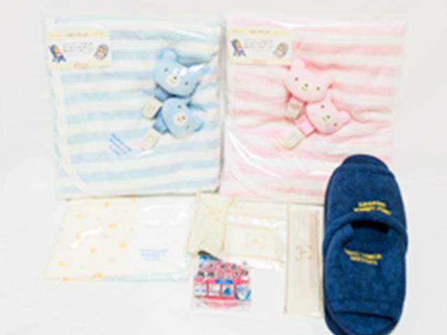 日用品や赤ちゃん用のタオルケット